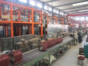 山东盛华电机厂-电机流水生产线